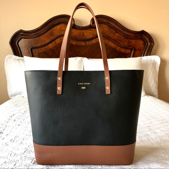 ce0d3d534d Authentic Cole Haan LARGE Leather Tote